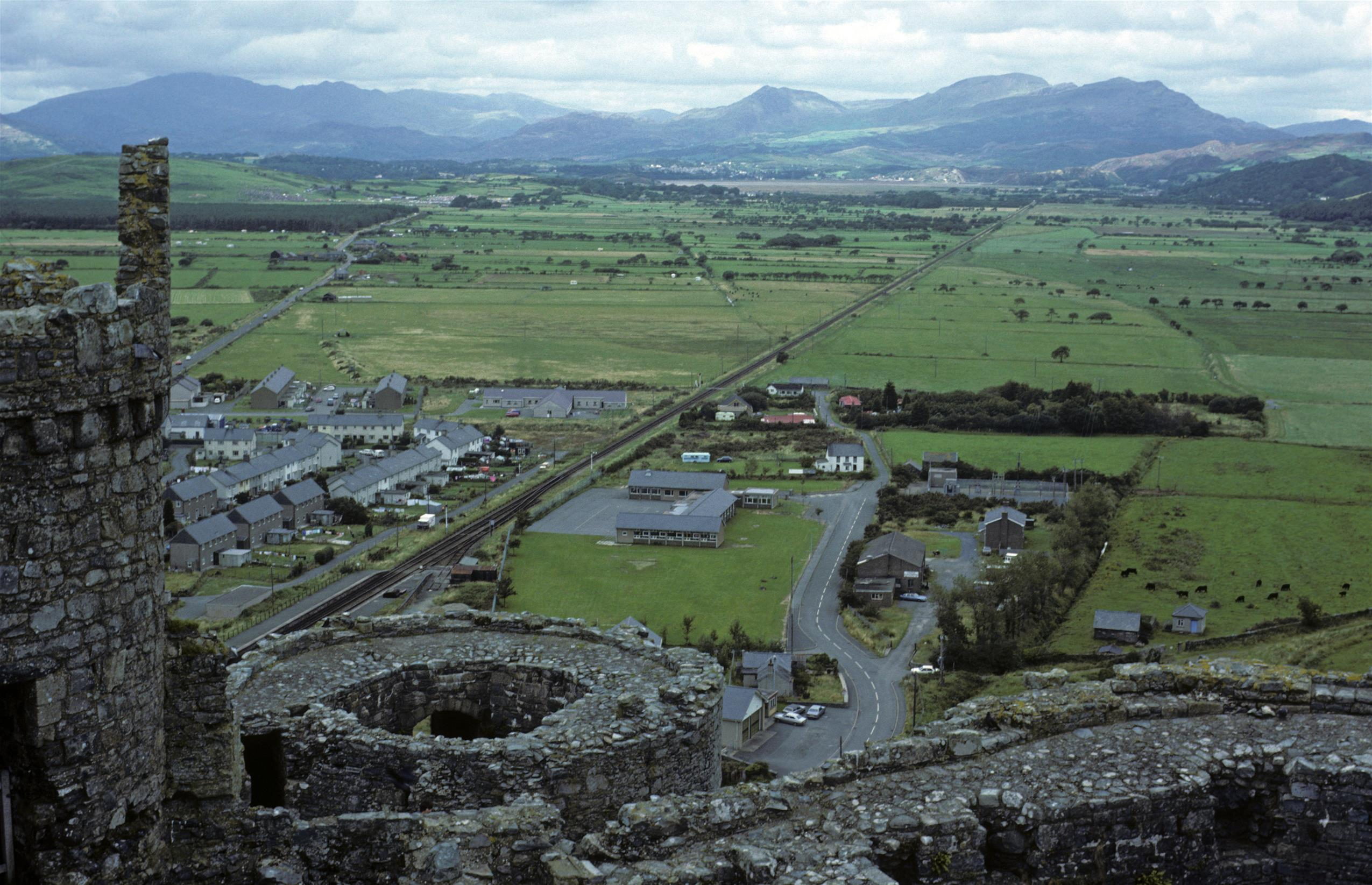 View northwards from Harlech Castle