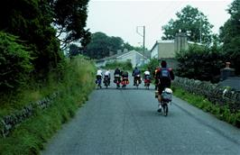Leaving Tregaron on the way to Llanddewi Brefi