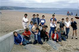 The group on Torcross beach