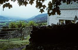 View of the Conwy valley from Rowen youth hostel
