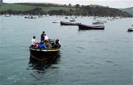 The first group heading across the estuary
