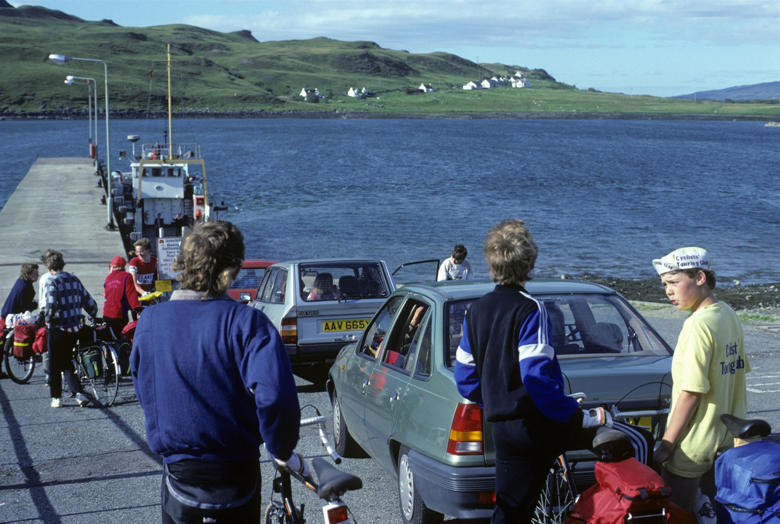 Ready to board the ferry at Sconser