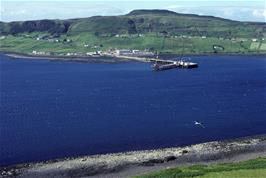 The ferry terminal at Uig, seen from the approach road