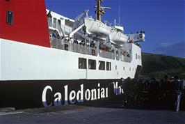 The enormous Caledonian-MacBrayne ferry at Uig