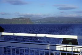 View back to Skye on the crossing to the Outer Hebrides