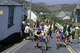 Climbing out of Boscastle