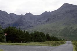 Views of the Cuillin mountains on Skye, from near Glenbrittle YH