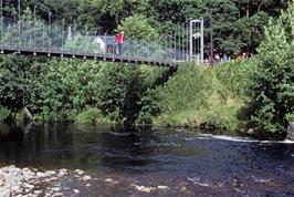 Crossing the footbridge near Dundonnell
