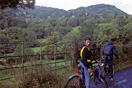 Luke Hatherly and John Stuart on the approach to Lustleigh