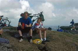 David & Philip Robinson enjoying lunch on Ugborough Beacon [Remastered scan, August 2019]