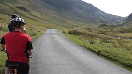 Honister Pass opens up before us