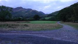 View back to the youth hostel from the bridleway between Buttermere and Crummock Water