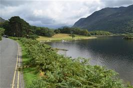 Woodhouse Islands, Crummock Water, where we stopped for an hour's rest and swim