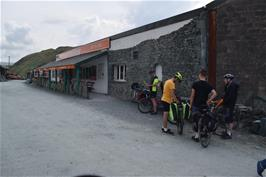 A well-deserved cafe stop at Honister Slate Mine, at the top of Honister Pass