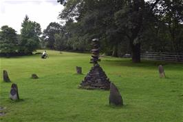 The Turning Point sculpture in Rothay Park, Ambleside